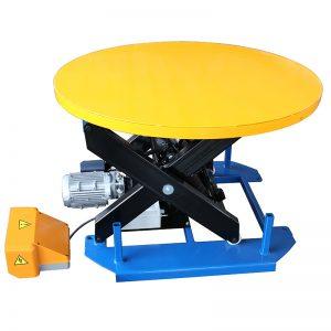 कॅरोसेल टर्नटेबलसह HRL1000 स्टेशनरी लिफ्ट टेबल