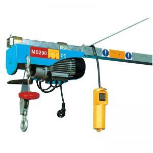 एमबी 200 मिनी इलेक्ट्रिक होस्ट, इलेक्ट्रिक लीव्हर फडकावणे